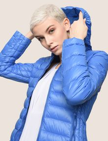 ARMANI EXCHANGE ULTRALIGHT SHAWL-COLLAR PUFFER JACKET PUFFER JACKET Woman a