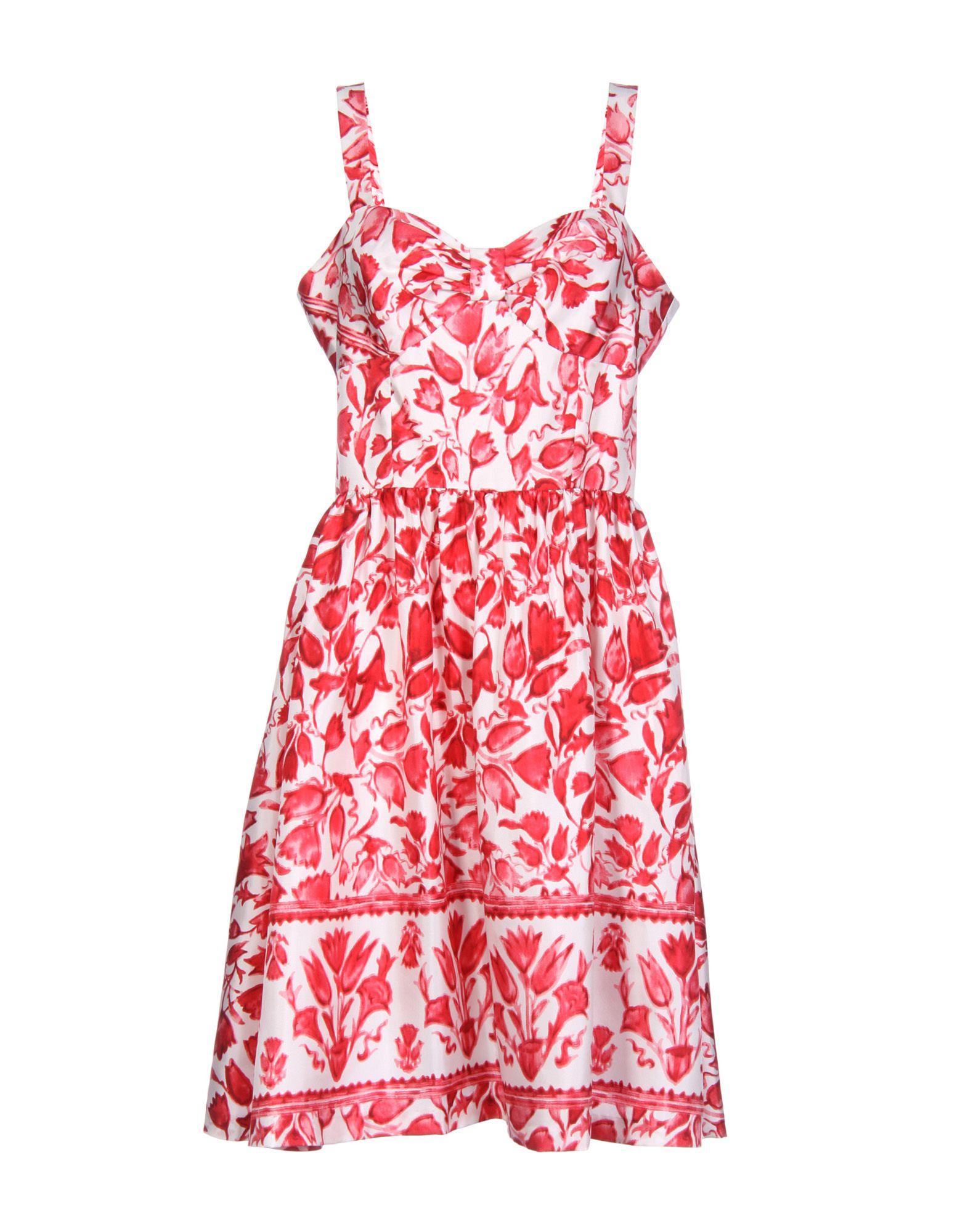 OSCAR DE LA RENTA Платье до колена цены онлайн