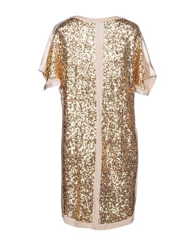 PATRIZIA PEPE Damen Kurzes Kleid Beige Größe 30 96% Viskose 4% Elastan