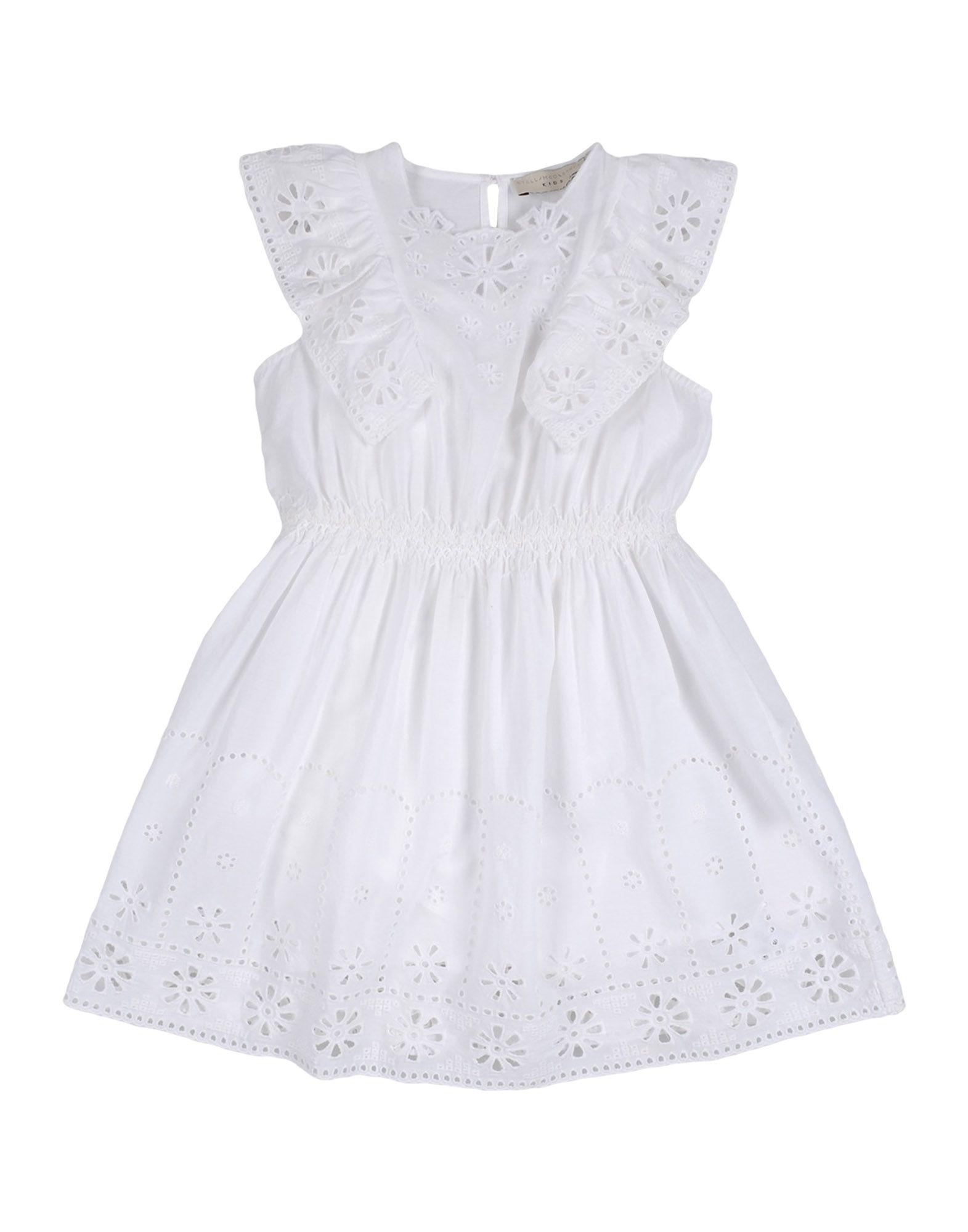 《送料無料》STELLA McCARTNEY KIDS ガールズ 3-8 歳 ワンピース&ドレス ホワイト 6 コットン 100%