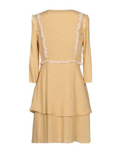PATRIZIA PEPE Damen Kurzes Kleid Beige Größe 32 100% Viskose
