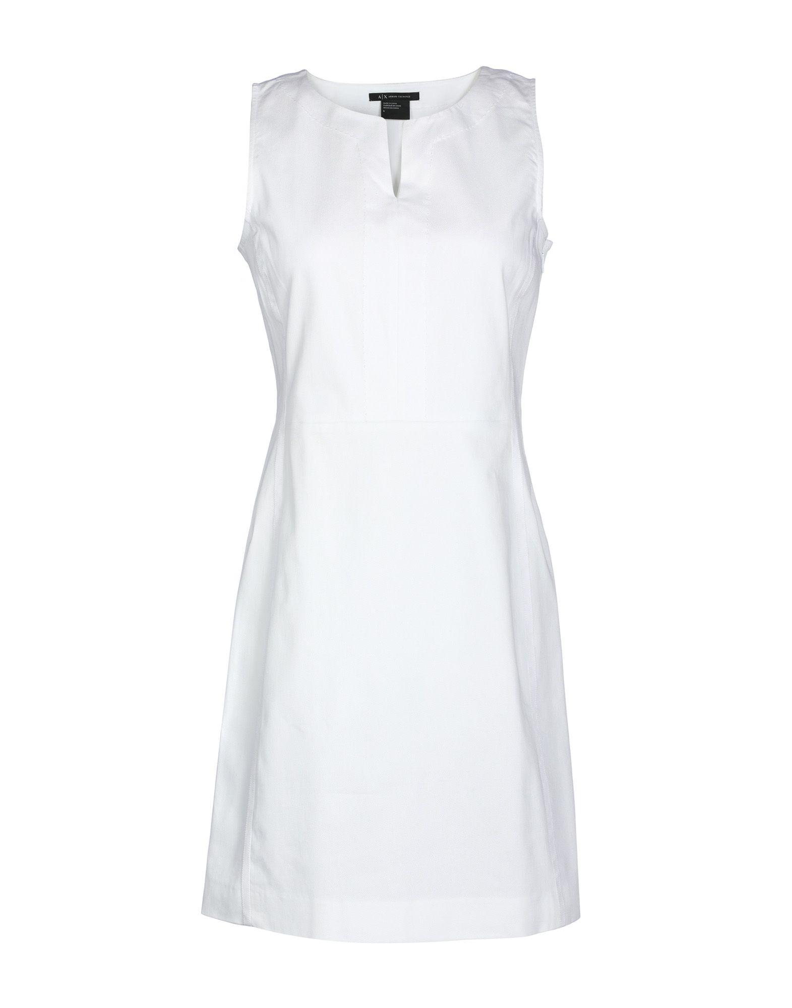 Короткое платье  Белый,Красный цвета