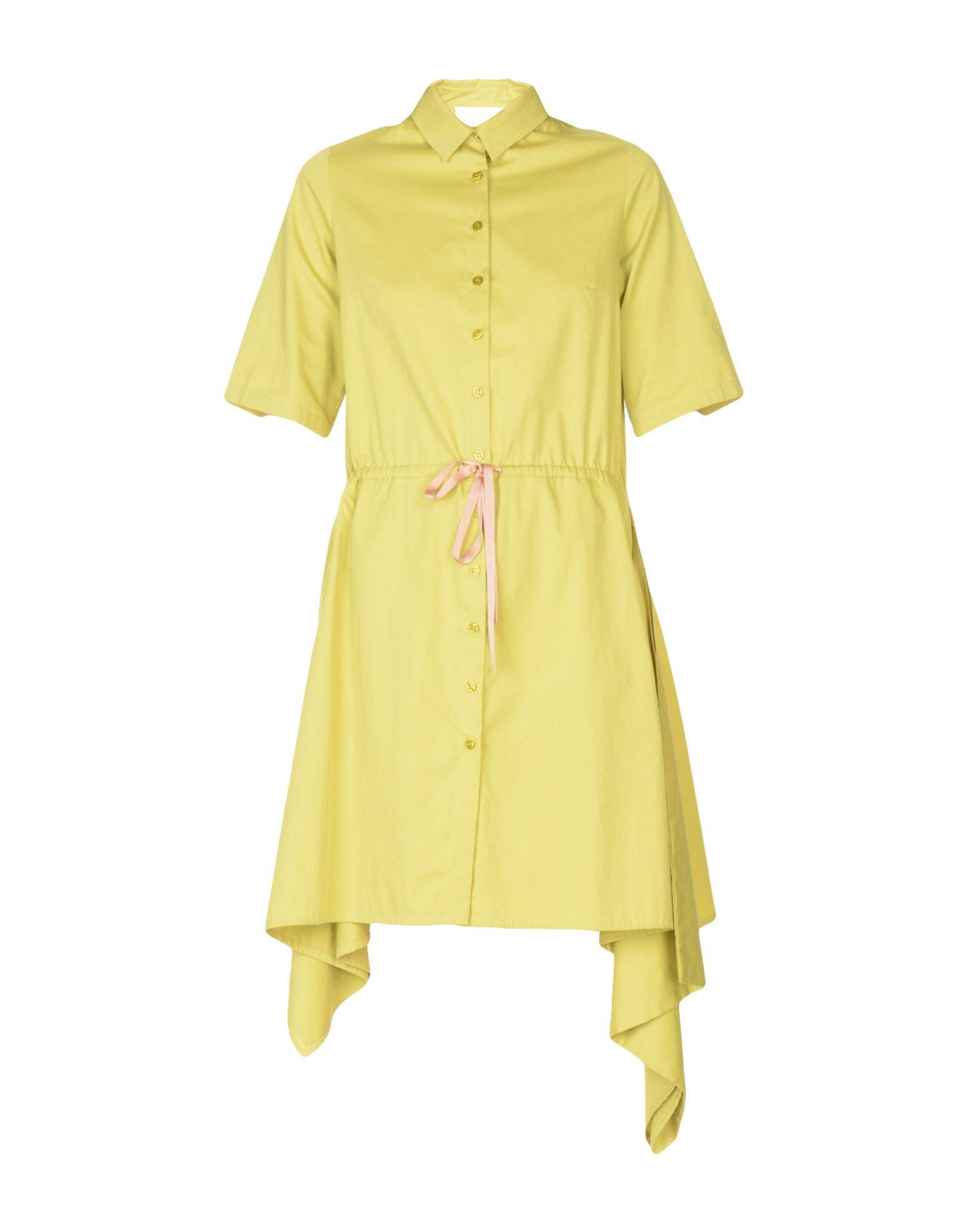 ELAIDI Shirt Dress in Acid Green