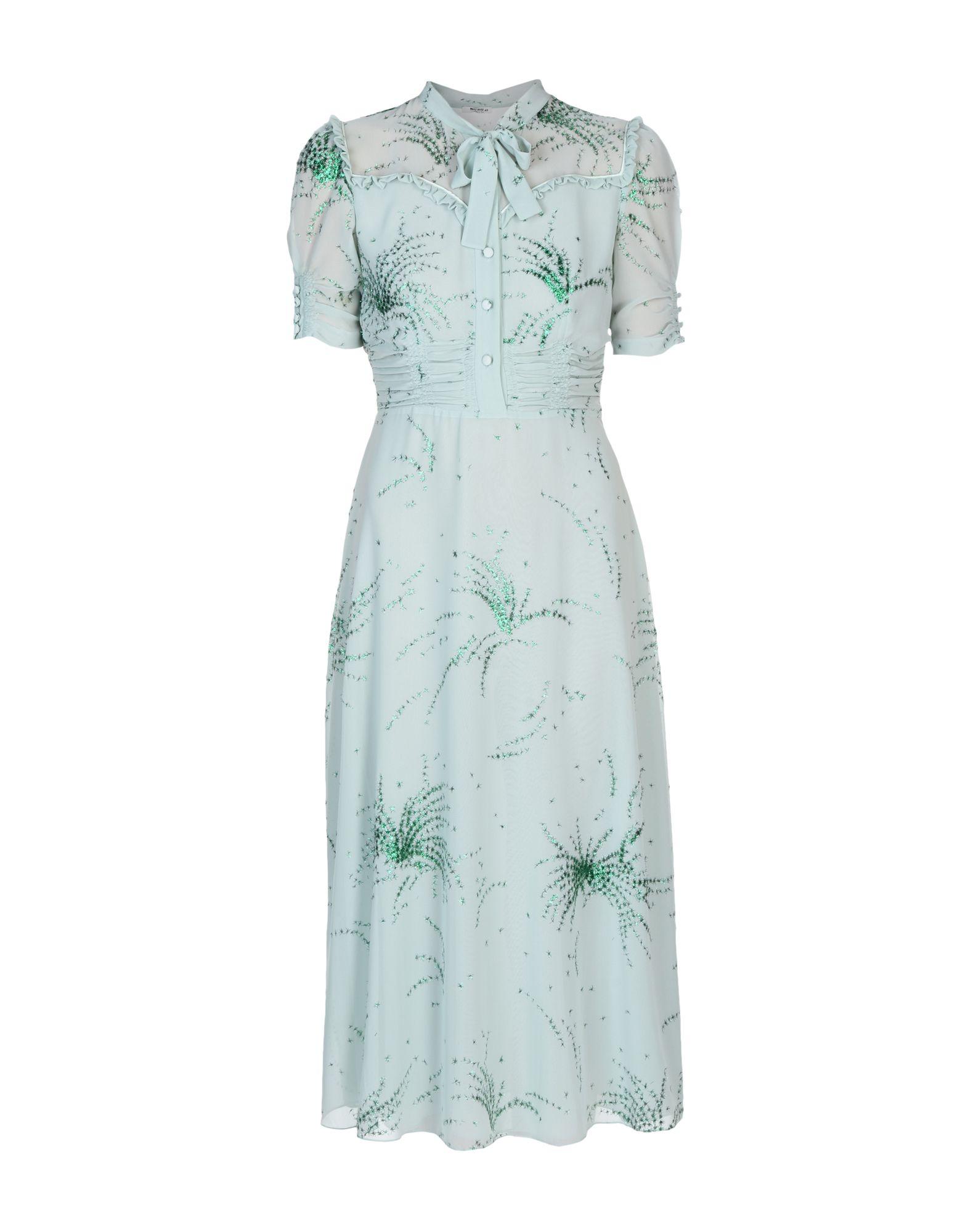MIU MIU Платье длиной 3/4 miu miu рубашка из денима
