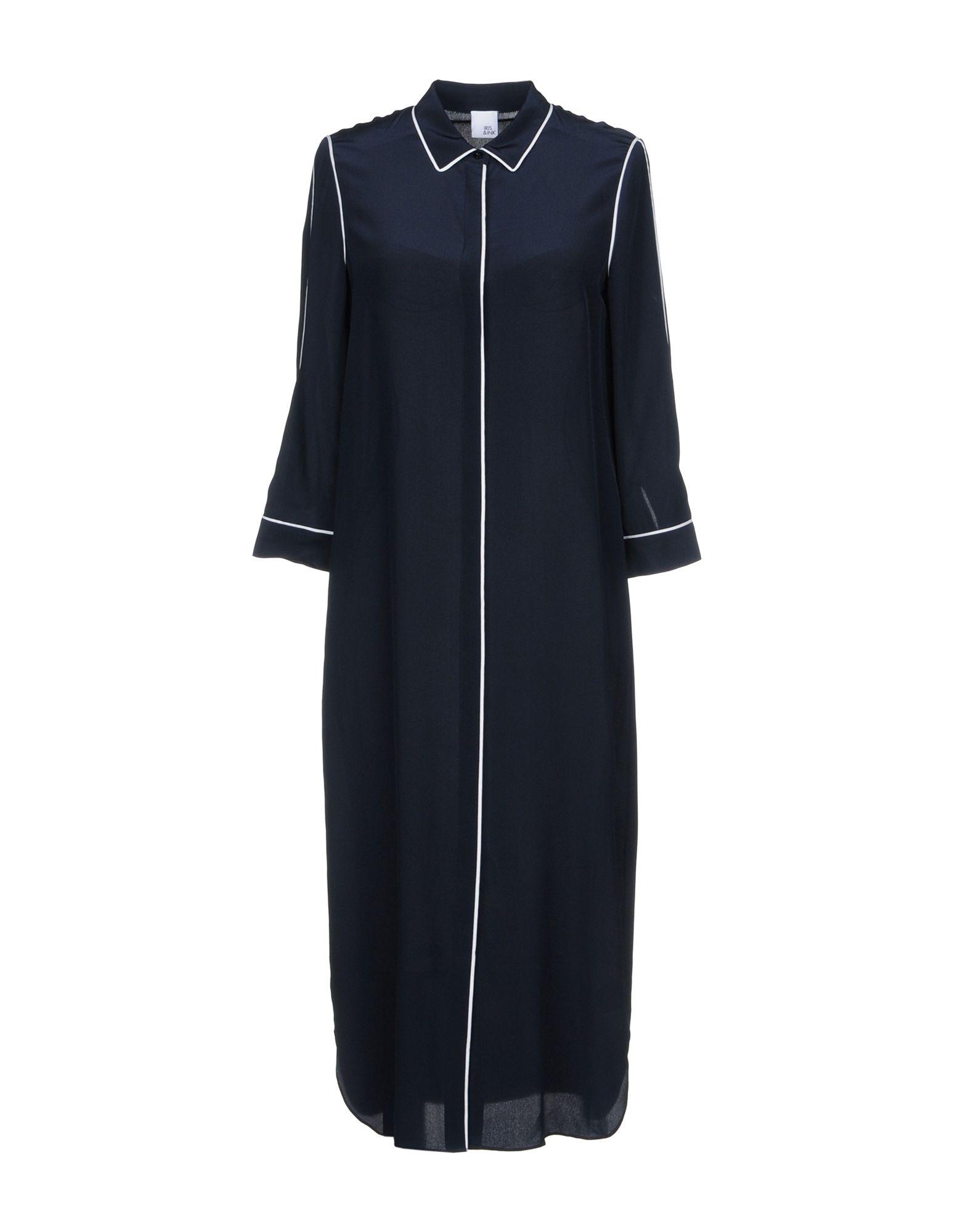 IRIS & INK Knee-Length Dress in Dark Blue