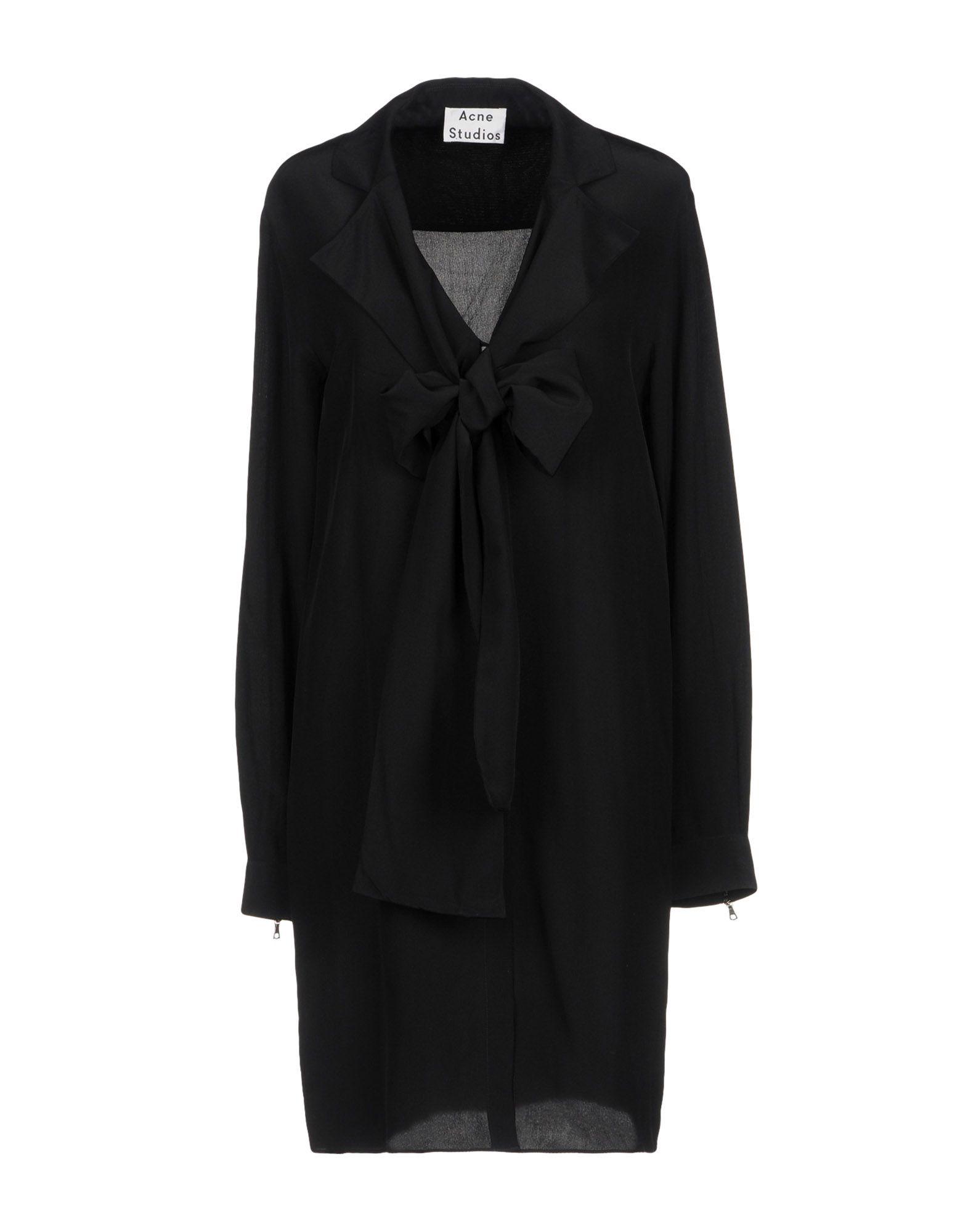 ACNE STUDIOS Короткое платье yuzhe studios черная рубашка с контрастным карманом rushmore
