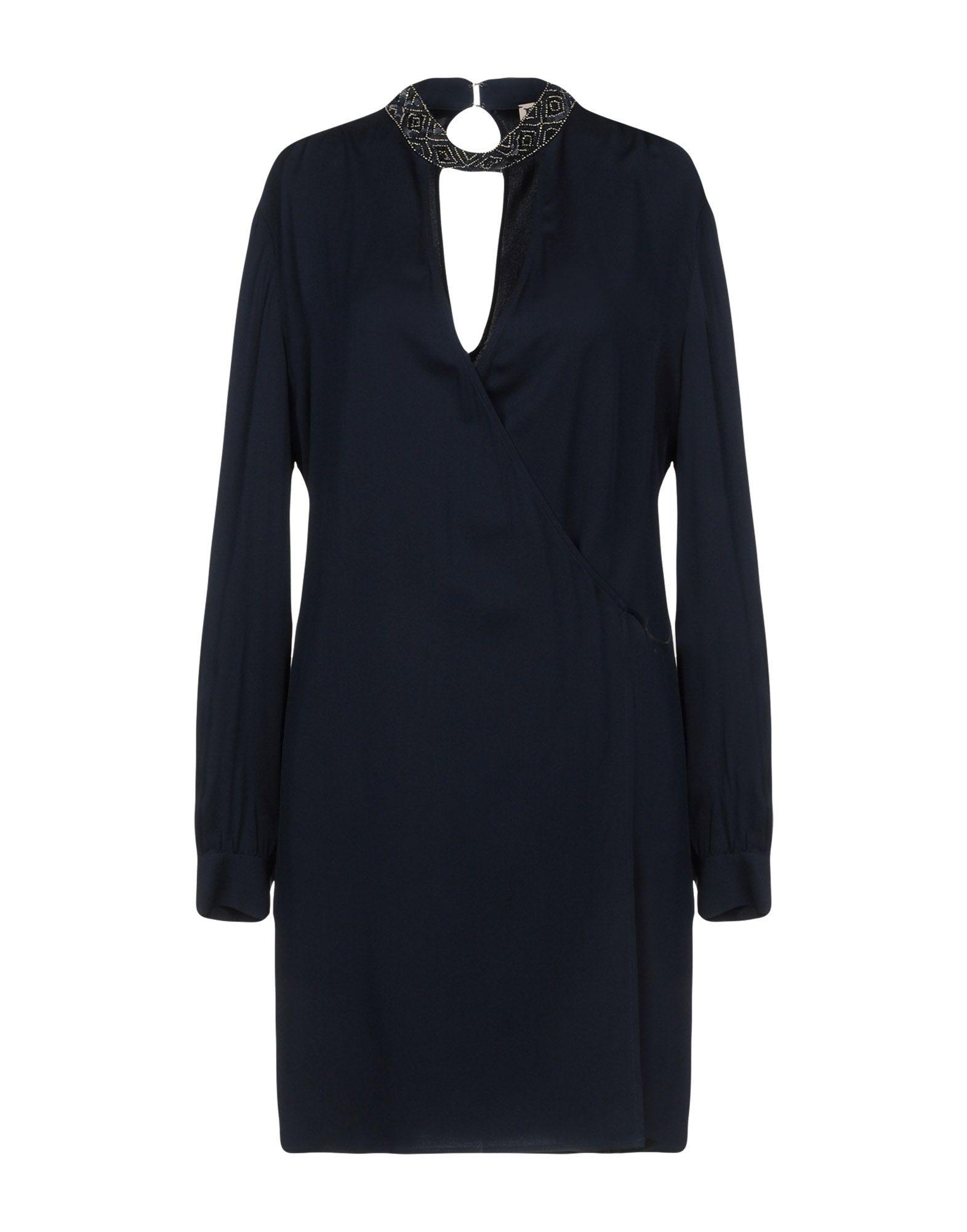 HAUTE HIPPIE Damen Kurzes Kleid Farbe Dunkelblau Größe 6