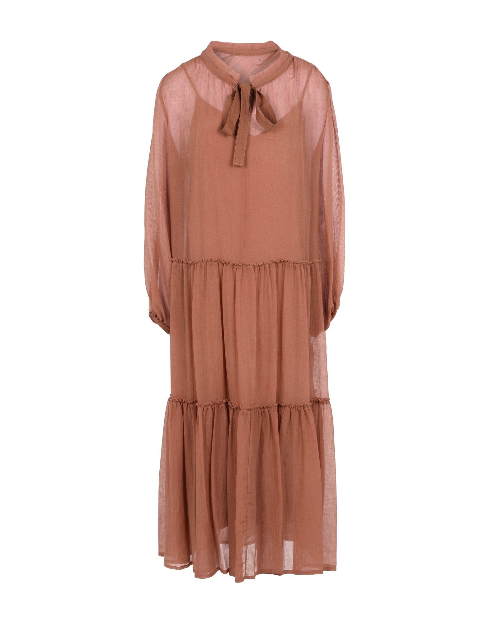 SEE BY CHLOÉ Длинное платье платье с зернистым рисунком chloé