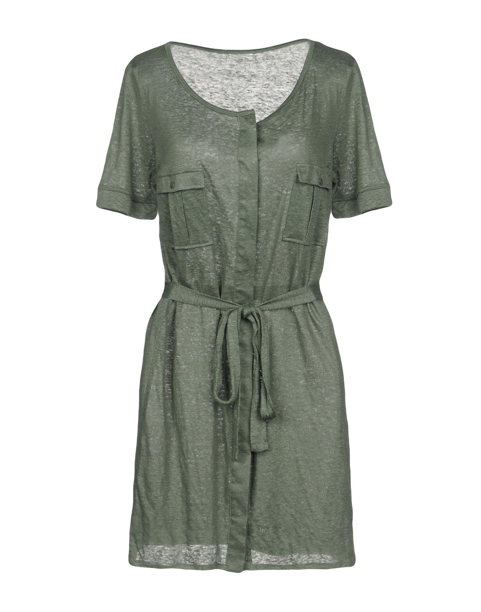 FINE COLLECTION Short Dress in Military Green
