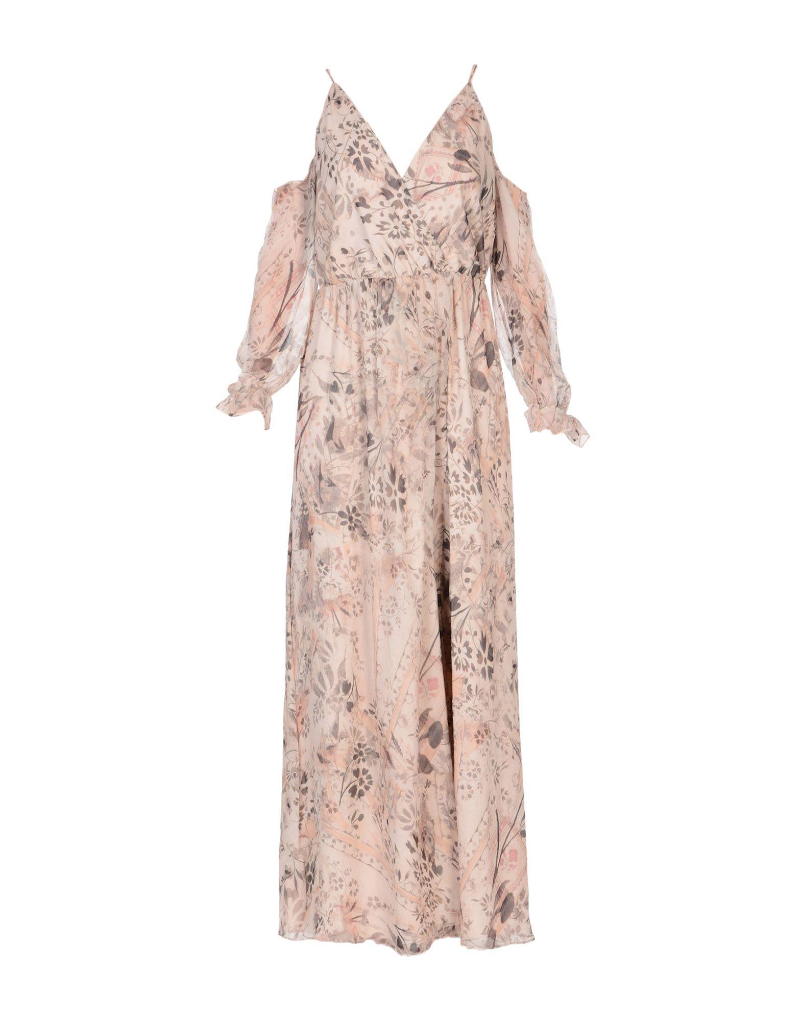 HAUTE HIPPIE Damen Langes Kleid Farbe Sand Größe 6