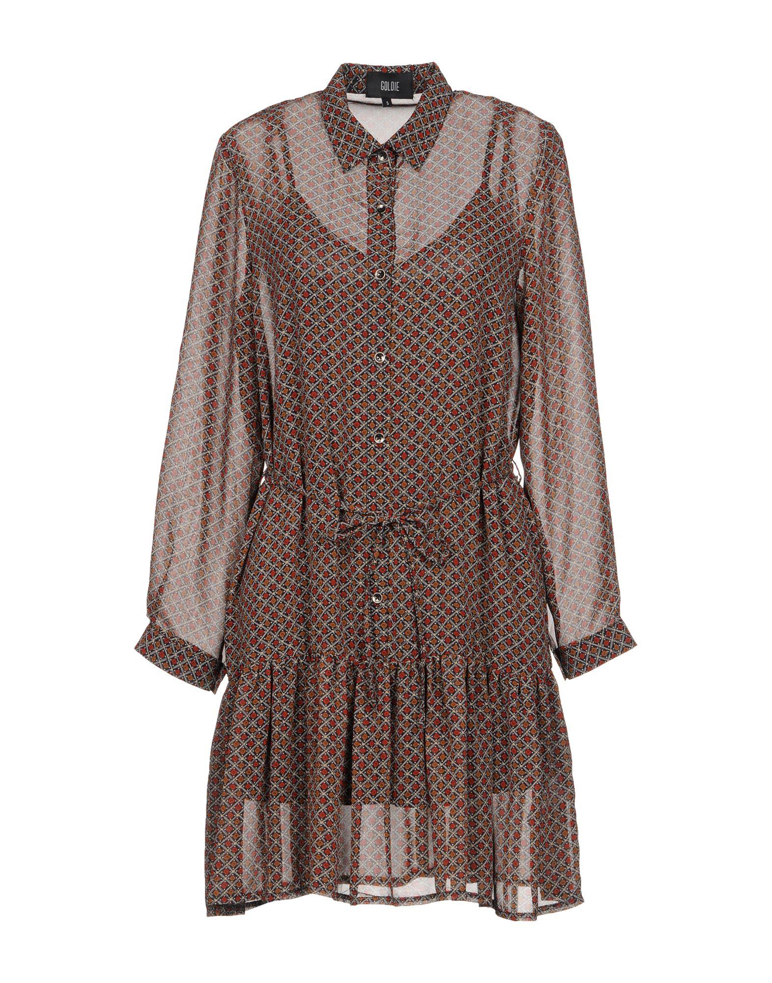 GOLDIE LONDON Короткое платье goldie london pубашка