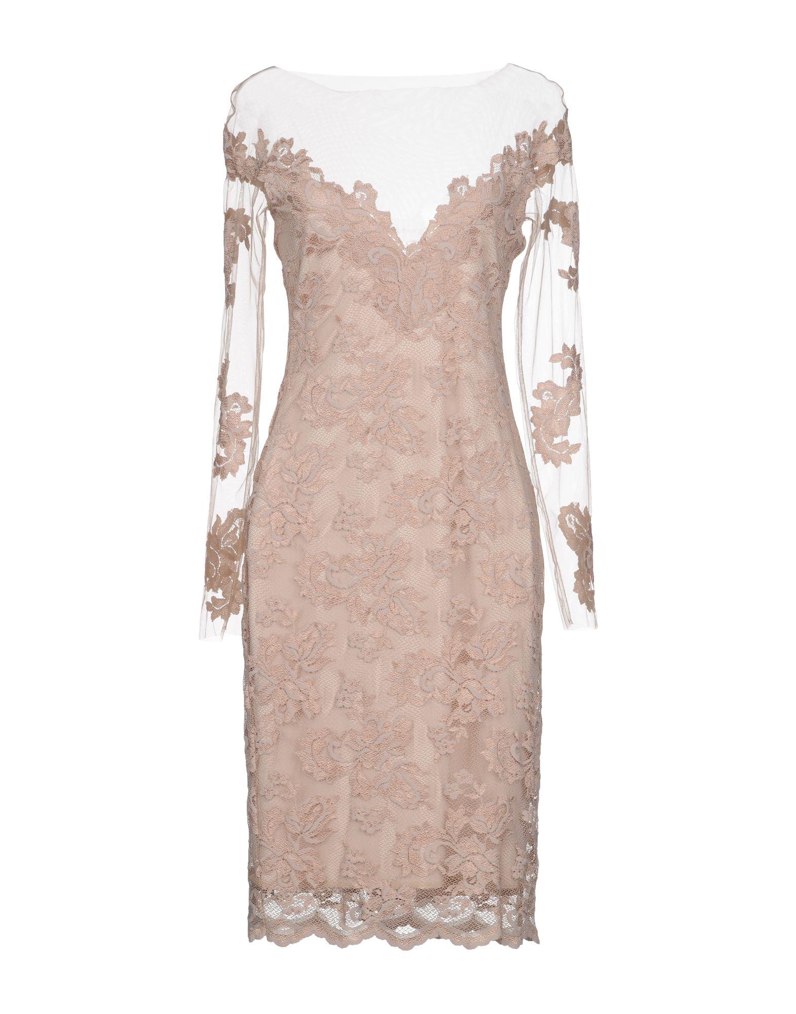 OLVI S Knee-Length Dress in Beige