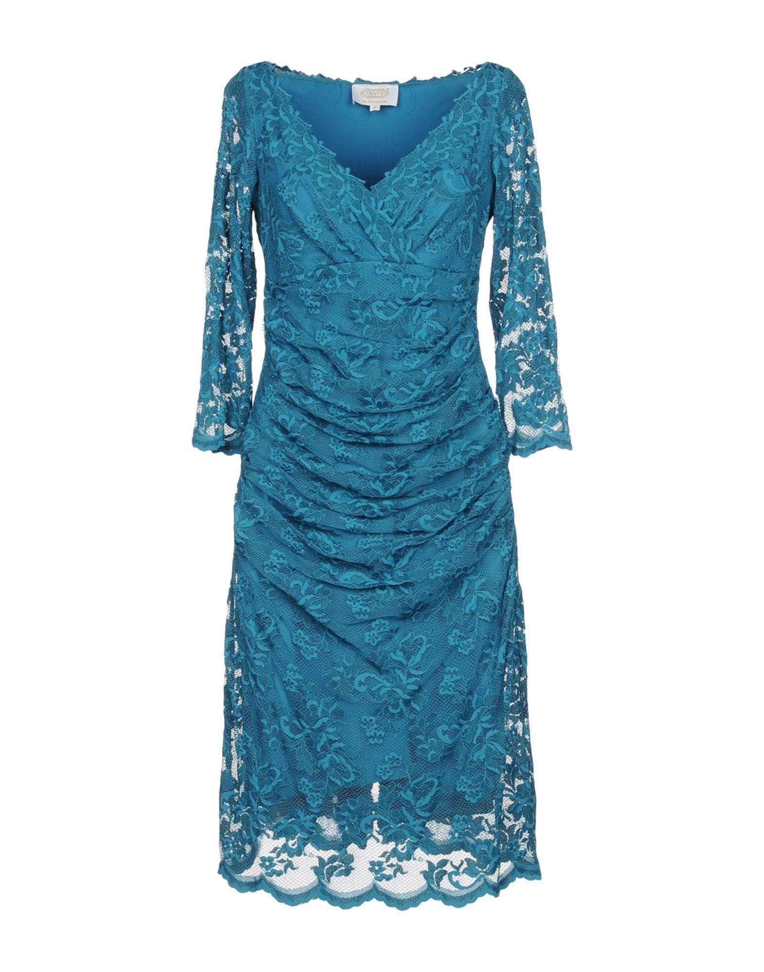 OLVI S Knee-Length Dress in Turquoise