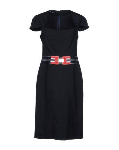 Платье до колена размер 46 цвет синий