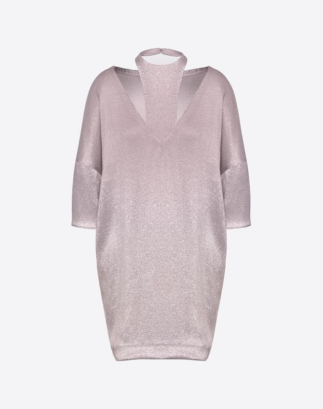 Hammered lamé dress