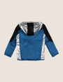 ARMANI EXCHANGE BOYS REFLECTIVE COLORBLOCK WINDBREAKER Jacket Man r