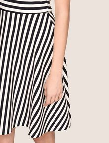 ARMANI EXCHANGE BOATNECK STRIPED FIT-AND-FLARE Mini dress Woman b