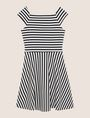 ARMANI EXCHANGE BOATNECK STRIPED FIT-AND-FLARE Mini dress Woman r