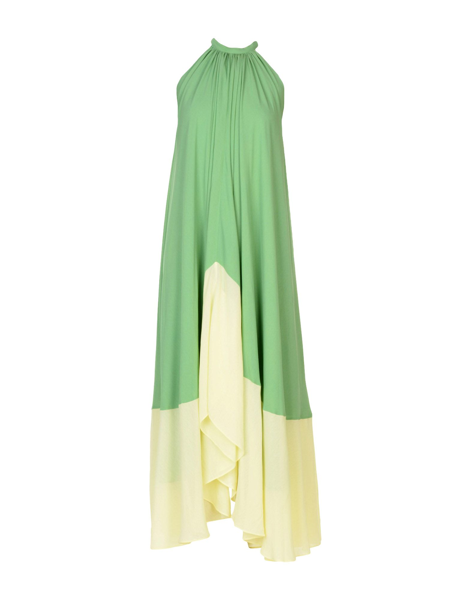《送料無料》SALONI レディース ロングワンピース&ドレス グリーン 6 レーヨン 100%