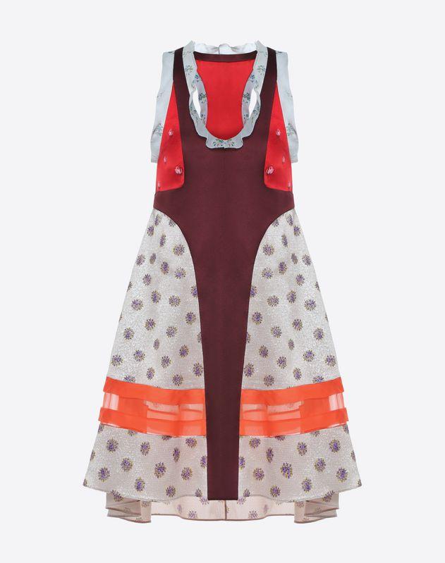 Floral polka-dot print dress