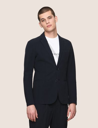 SEERSUCKER TWO-BUTTON BLAZER