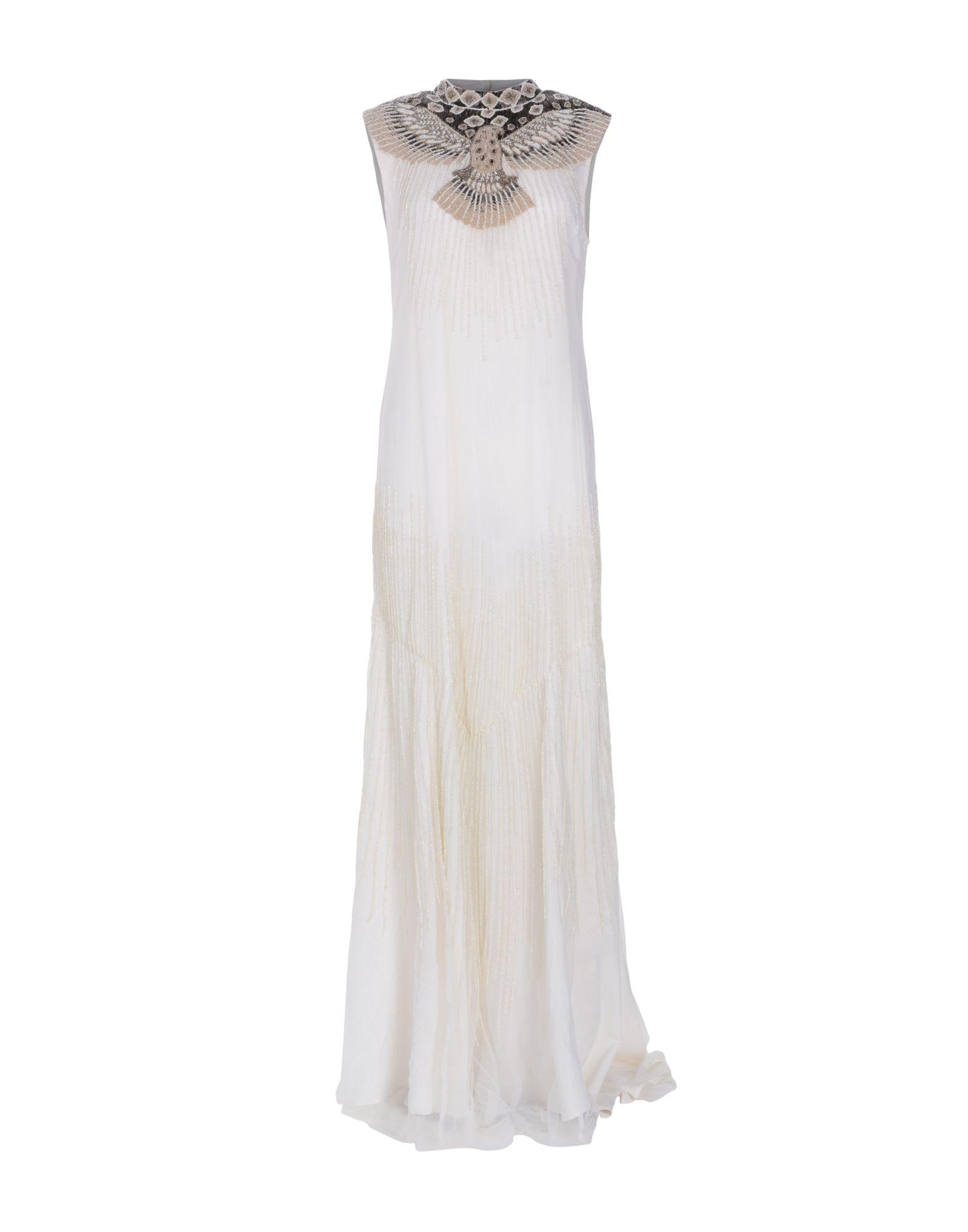 HAUTE HIPPIE Damen Langes Kleid Farbe Elfenbein Größe 1