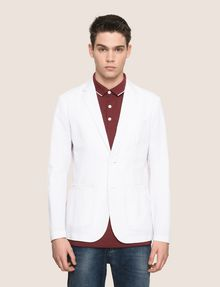 ARMANI EXCHANGE SEERSUCKER TWO-BUTTON BLAZER Blazer [*** pickupInStoreShippingNotGuaranteed_info ***] f
