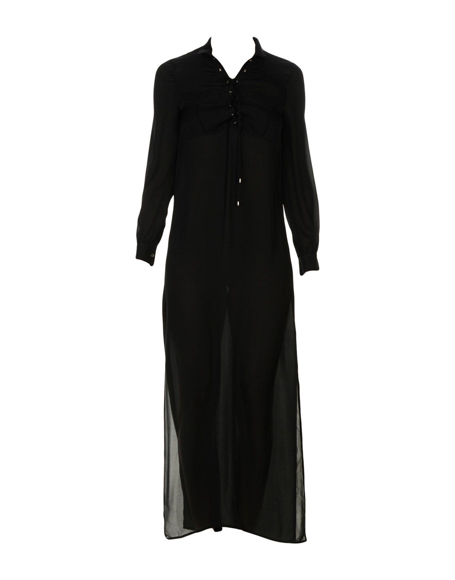 HAUTE HIPPIE Damen Langes Kleid Farbe Schwarz Größe 3