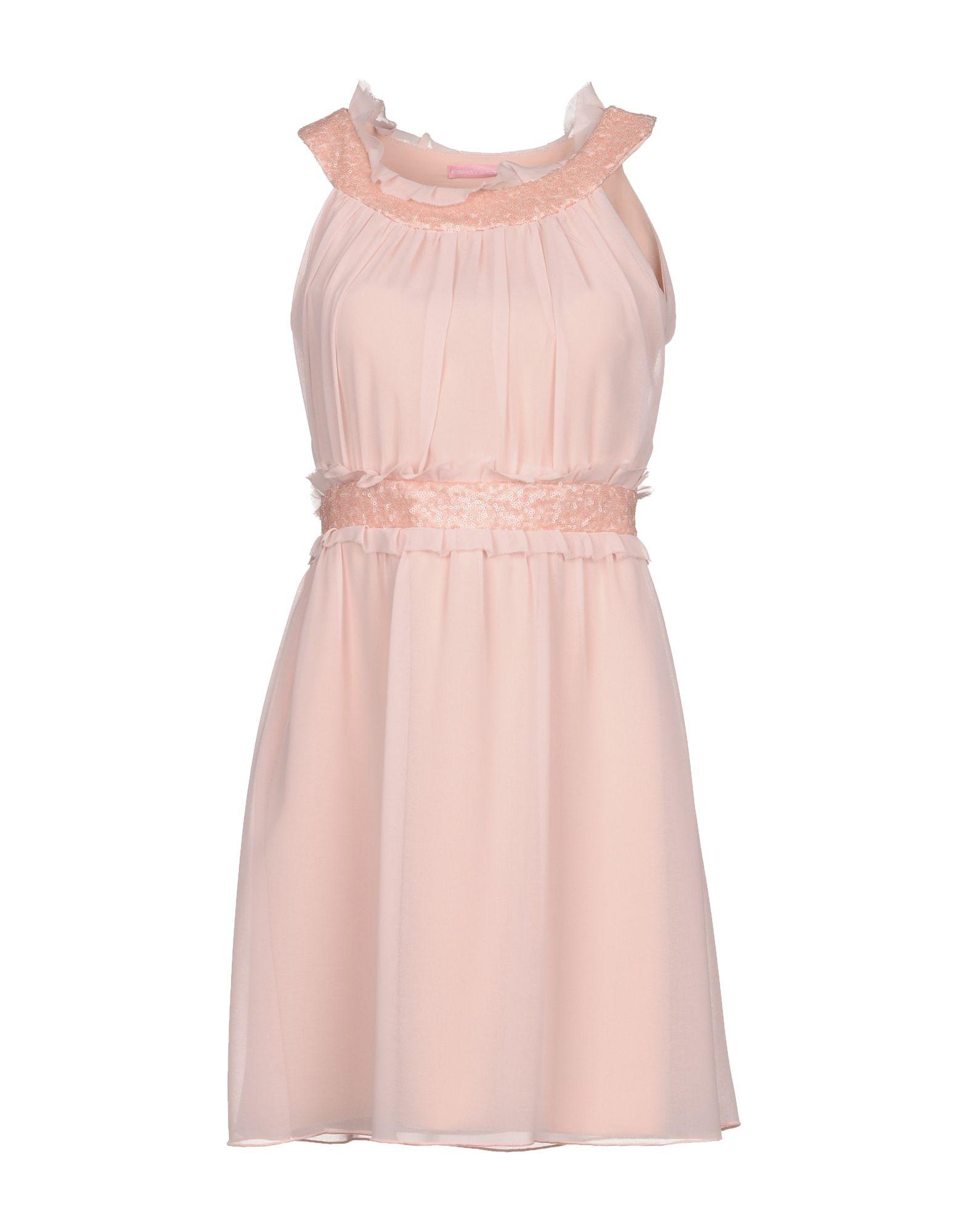 FRANCESCA FERRANTE Короткое платье платье francesca lucini платья и сарафаны в полоску
