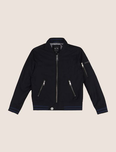 BOYS ZIP DETAIL BOMBER JACKET