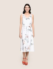 ARMANI EXCHANGE CROSS-STITCH POPLIN MIDI DRESS Midi dress Woman f