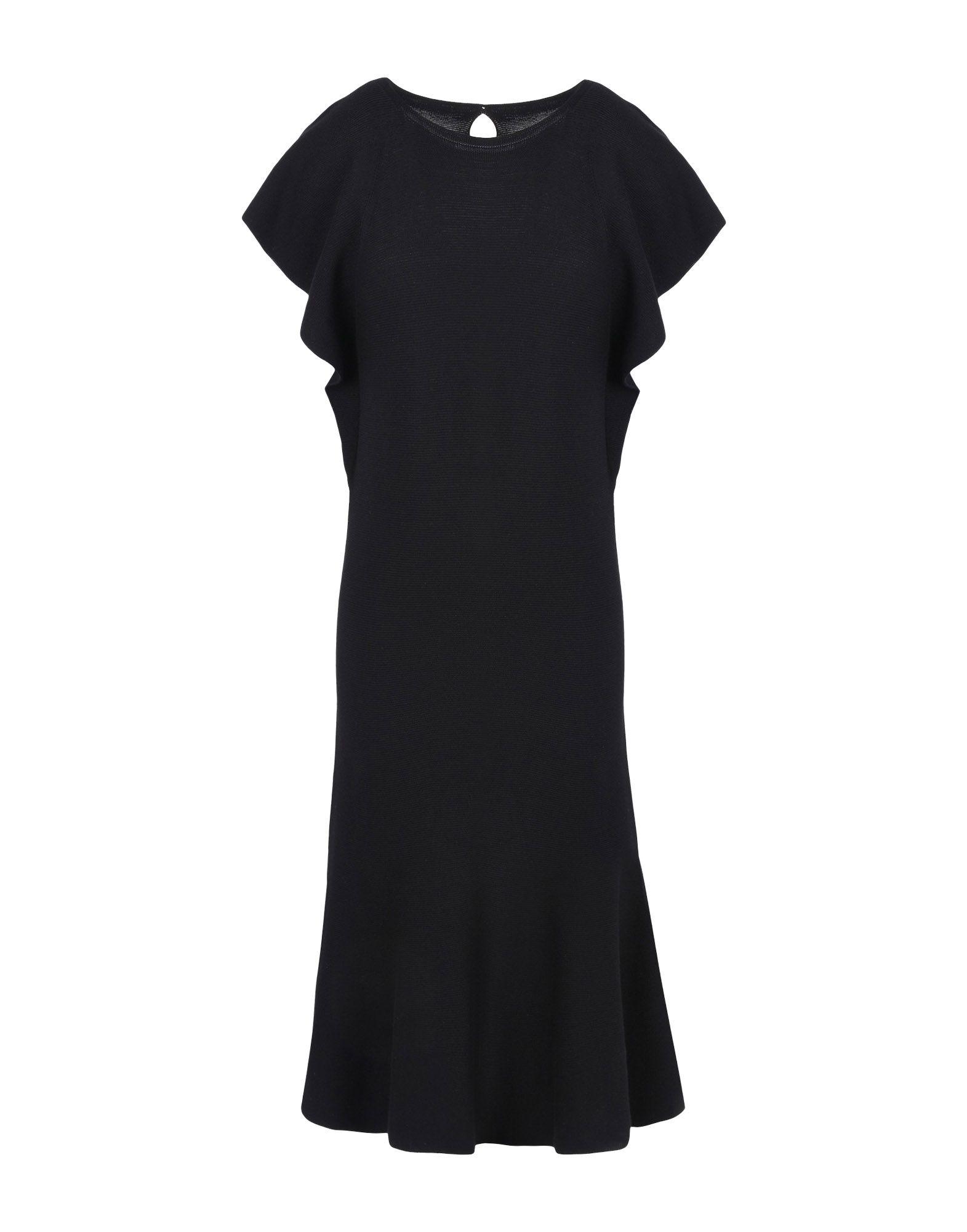 《セール開催中》EMPORIO ARMANI レディース ミニワンピース&ドレス ブラック 46 コットン 60% / レーヨン 40%