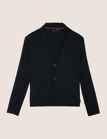 ARMANI EXCHANGE KNIT TWO-BUTTON POCKET BLAZER Blazer Man r