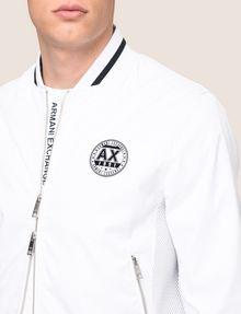 ARMANI EXCHANGE ロゴパッチ ボンバージャケット アウター メンズ b