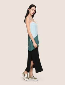 ARMANI EXCHANGE ASYMMETRICAL TIERED SLIP DRESS Maxi dress Woman d