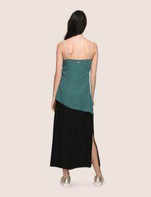 ARMANI EXCHANGE ASYMMETRICAL TIERED SLIP DRESS Maxi dress Woman e