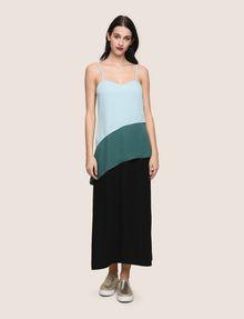 ARMANI EXCHANGE ASYMMETRICAL TIERED SLIP DRESS Maxi dress Woman f