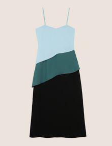 ARMANI EXCHANGE ASYMMETRICAL TIERED SLIP DRESS Maxi dress Woman r