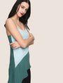 ARMANI EXCHANGE ASYMMETRICAL TIERED SLIP DRESS Maxi dress Woman a