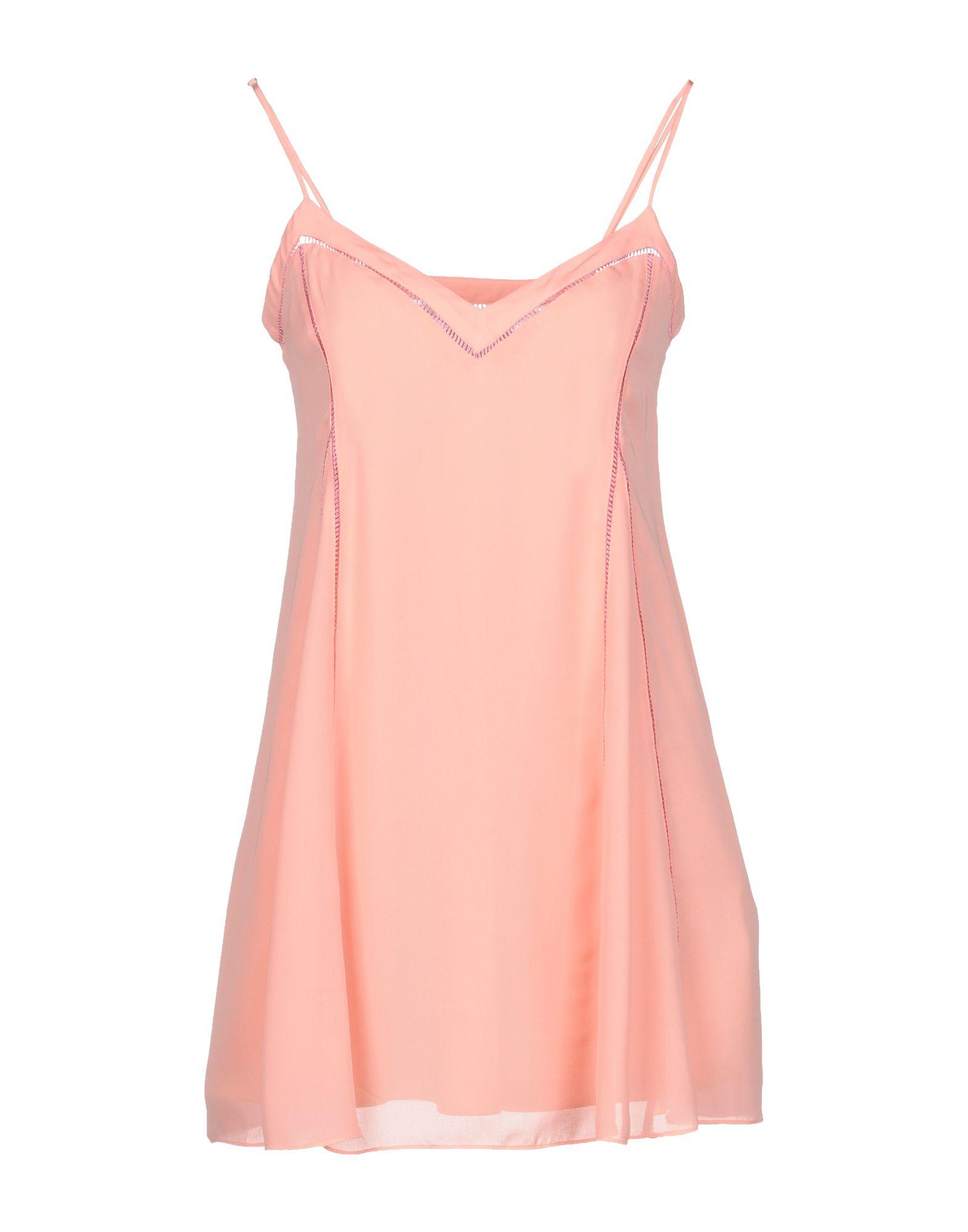 《送料無料》ELIZABETH AND JAMES レディース ミニワンピース&ドレス ピンク XXS シルク 100%