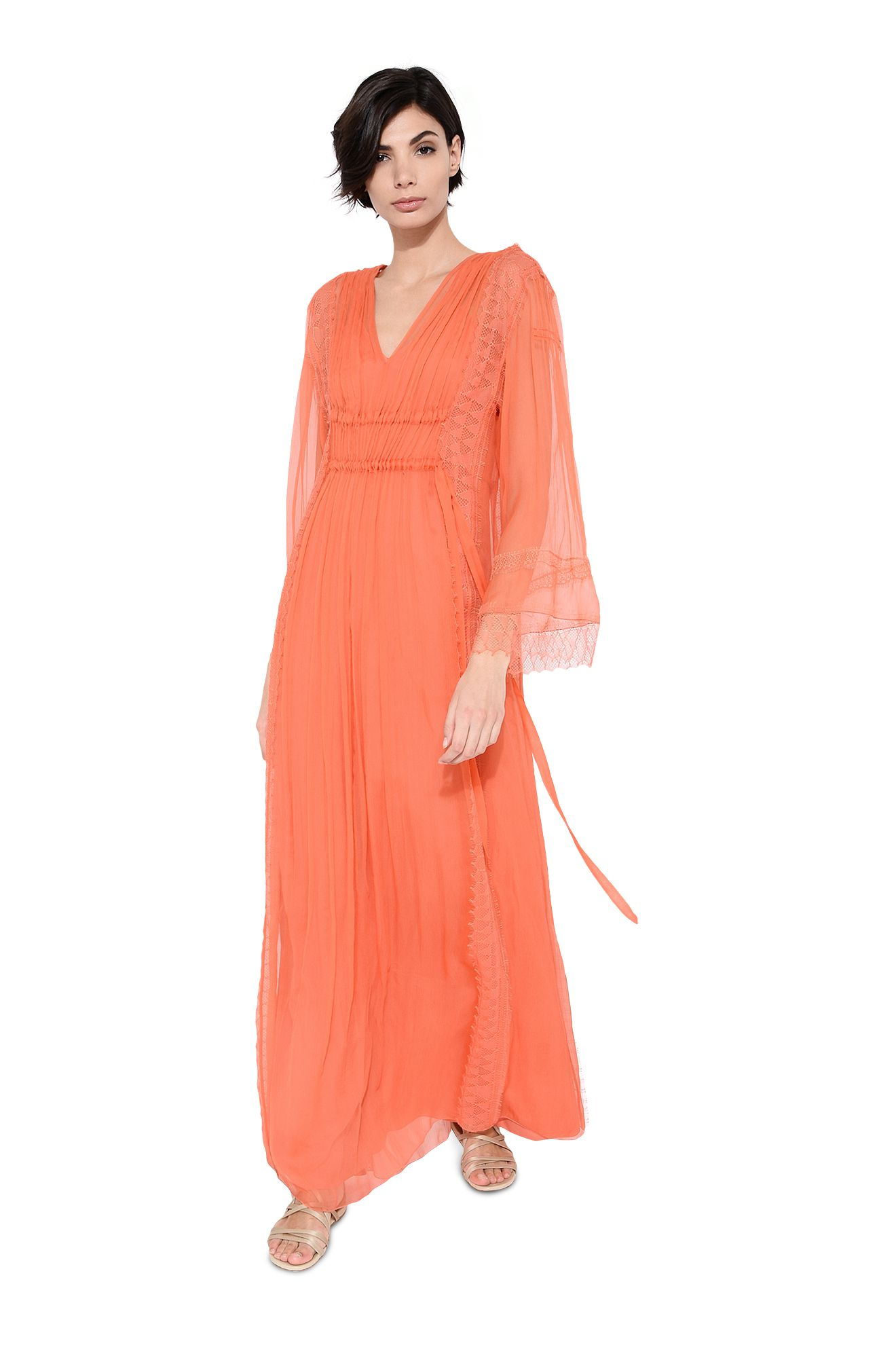 Robe longue double coulisse