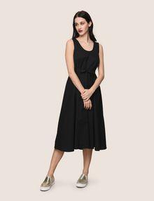 ARMANI EXCHANGE CROSS-STITCH POPLIN MIDI DRESS Midi dress Woman f