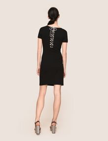 ARMANI EXCHANGE LACE-UP BACK BODYCON DRESS Mini dress Woman e