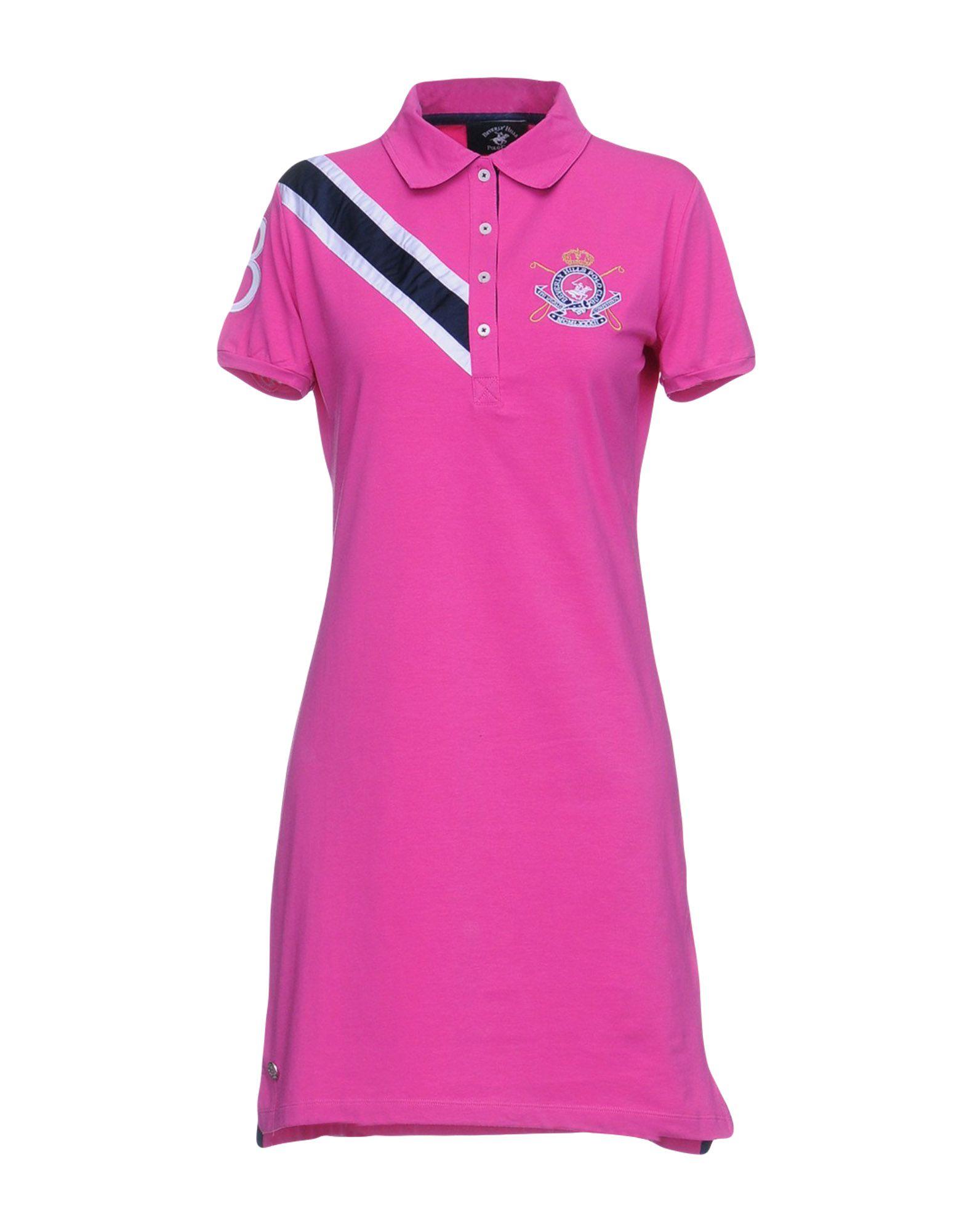 BEVERLY HILLS POLO CLUB Damen Kurzes Kleid Farbe Fuchsia Größe 4