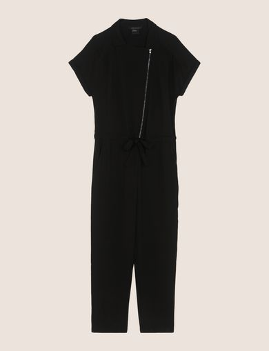 ASYMMETRICAL ZIP-FRONT JUMPSUIT