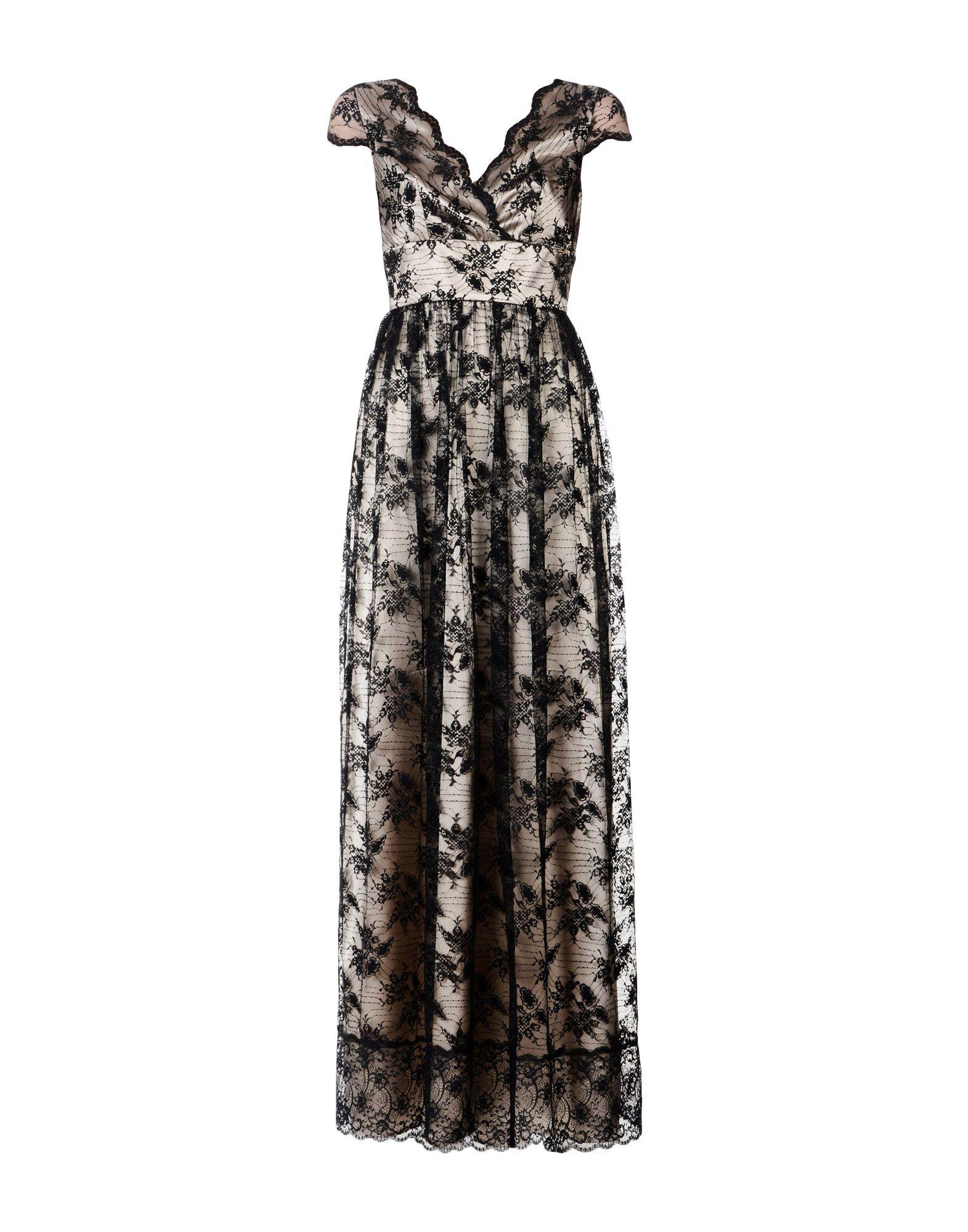 MARY D'ALOIA? レディース ロングワンピース&ドレス ブラック 42 ナイロン 100% / ポリエステル / ポリウレタン