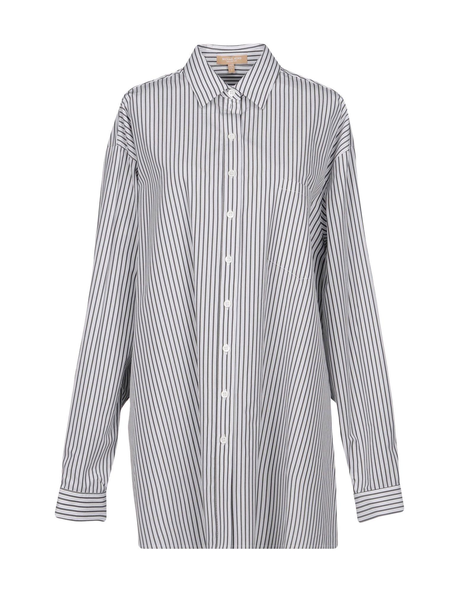 《送料無料》MICHAEL KORS COLLECTION レディース シャツ 鉛色 2 コットン 100%