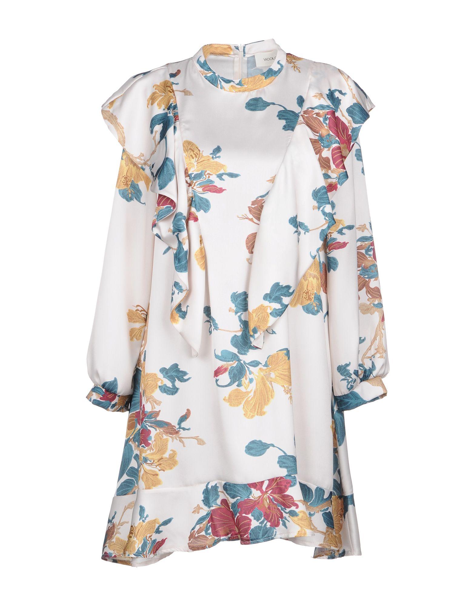 VICOLO Короткое платье vicolo trivelli короткое платье