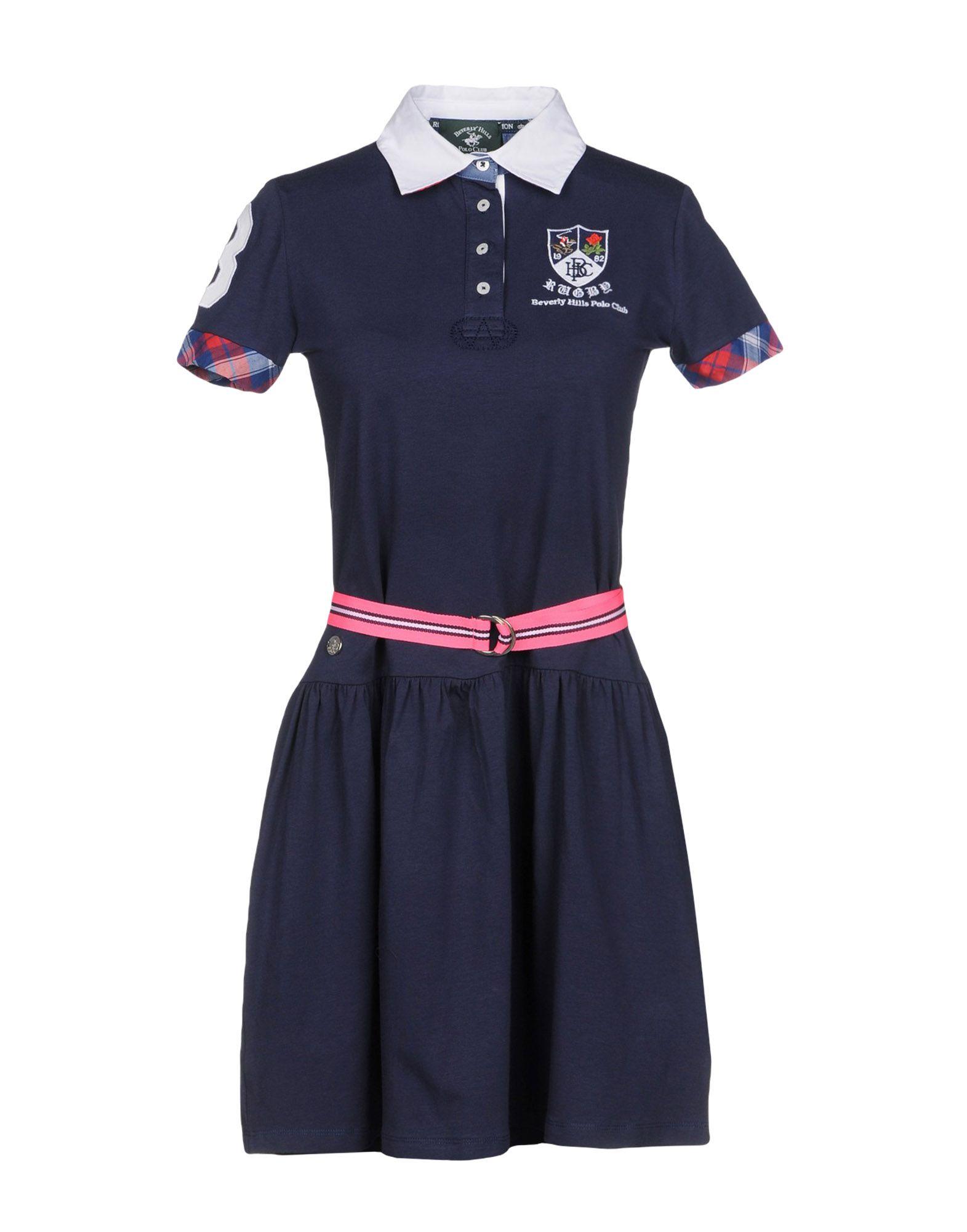 BEVERLY HILLS POLO CLUB Damen Kurzes Kleid Farbe Dunkelblau Größe 6