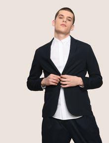 ARMANI EXCHANGE LINEN BLEND TWO-BUTTON BLAZER Blazer Man a